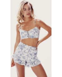 Wildfox English Toile Bustier  Short Set - Lyst