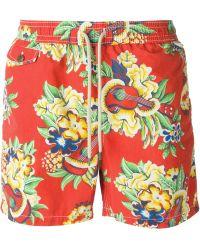 Polo Ralph Lauren Floral-Printed Swim Shorts - Lyst