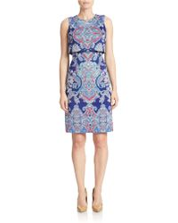 Maggy London - Printed Popover Sheath Dress - Lyst