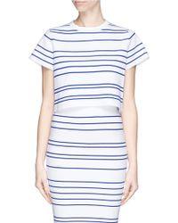 Comme Moi Stripe Knit Top white - Lyst