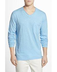 Robert Graham 'Beach Blast' Long Sleeve Pocket T-Shirt - Lyst