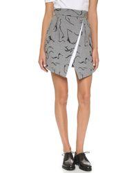 Misha Nonoo - Jacqui Skirt - Grey/black - Lyst