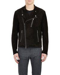 Michael Kors Suede Moto Jacket - Lyst