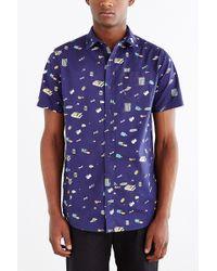 Lazy Oaf - Garbage Print Button-Down Shirt - Lyst