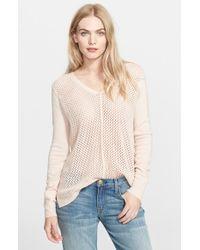 Rebecca Taylor Mesh Knit Sweater - Lyst