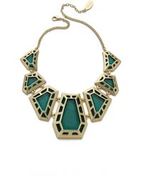Adia Kibur Gem Necklace Green - Lyst