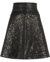 Temperley London Majorelle Leather Skirt - Lyst