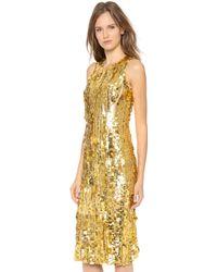 Wes Gordon Silk Sheath Dress - Lyst