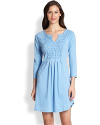Cottonista Smocked Sleep Gown - Lyst