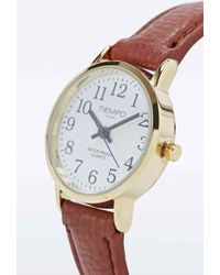 Urban Outfitters - Classic Leather Watch In Tan - Lyst