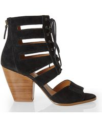 Nine West Black Highland Lace-Up Sandals - Lyst