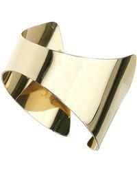 Topshop Simple Triangular Cuff  Gold - Lyst