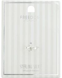 TOPSHOP - Sterling Silver Anchor Ring - Lyst