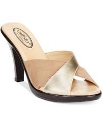 Callisto Rozie Slide Sandals - Lyst