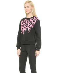 Moschino Cheap and Chic Long Sleeve Sweatshirt - Black - Lyst