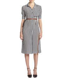 Altuzarra Kieran Striped Silk Shirtdress black - Lyst