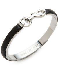 Rebecca Minkoff Dog Clip Bangle Bracelet Black - Lyst