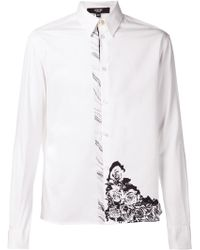 Versus  Wave Flower Print Shirt - Lyst