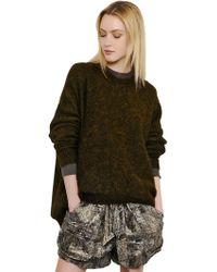 Isabel Marant Oversized Wool Blend Sweater - Lyst