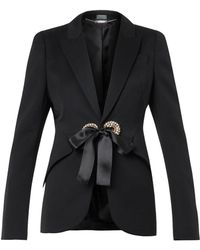 Alexander McQueen Crystaleyelet Tailored Jacket - Lyst
