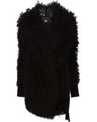 Lost & Found Belted Textured Cardi-Coat