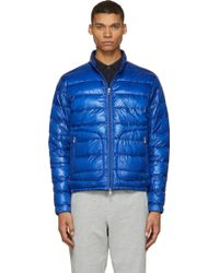 Moncler Royal Blue Quilted Down Acorus Jacket - Lyst