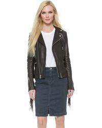 BLK DNM Leather Jacket 10 With Fringe - Black - Lyst