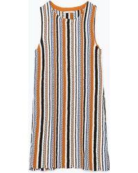 Zara Jacquard Knit Dress - Lyst