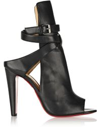 Christian Louboutin Hippik 100 Cutout Leather Ankle Boots - Lyst