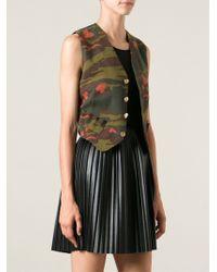 Jean Paul Gaultier Camouflage Waistcoat - Lyst