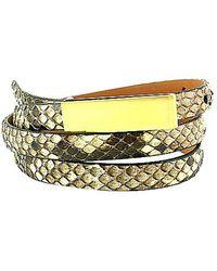 Leighelena - Double Natural Python Licorice Belt - Lyst