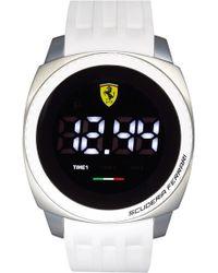 Scuderia Ferrari - 'aero Touch' Digital Silicone Strap Watch - Lyst