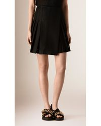 Burberry | Pleated English Lace Wrap-over Mini Skirt | Lyst