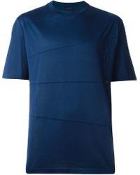 Lanvin   Asymmetric Lined T-shirt   Lyst