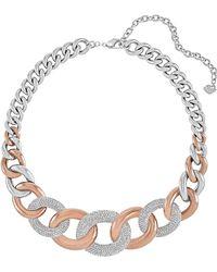 Swarovski Bound Crystallized Two-Tone Link Necklace - Lyst