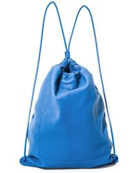 Burberry Prorsum | Drawstring Leather Bag | Lyst