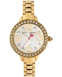 Betsey Johnson - Women'S Gold-Tone Bracelet Watch 32Mm Bj00335-03 - Lyst