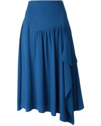 Chloé Blue Asymmetric Skirt - Lyst