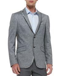 Etro Melange Linencotton Jersey Jacket - Lyst