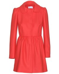 RED Valentino Wool-Blend Coat - Lyst