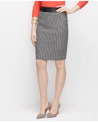Ann Taylor Curvy Graphic Tweed Pencil Skirt - Lyst