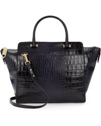 Milly Callan Croc-embossed Leather Tote - Lyst