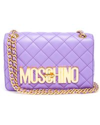 Moschino Quilted Leather Bag - Lyst