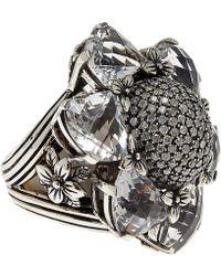 Stephen Dweck - Silver Citrine And Diamond Flower Ring - Lyst