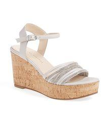 Fabiana Filippi - Cork and Leather Wedge Sandals - Lyst