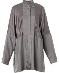 Haider Ackermann Dali Longlength Silk Shirt - Lyst