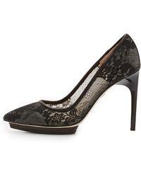 Diane von Furstenberg | Madrid Lace Pumps - Black | Lyst