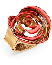 Oscar de la Renta Handcarved Rose Ring - Lyst