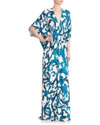 Issa | Silk Georgette Dolman Gown | Lyst