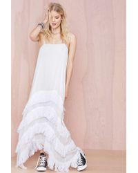 Nasty Gal Un Kne Form Studios On The Fringe Dress - Lyst